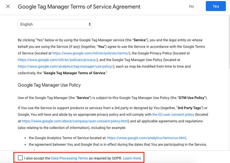 google-tag-manager-term-of-service