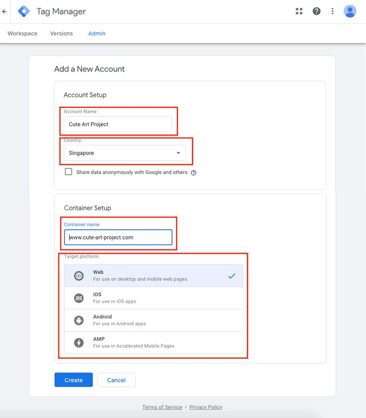 Google-tag-manager-create-new-account