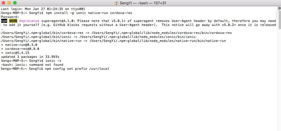 type npm config set prefix