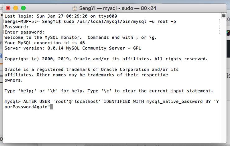 Install Apache in macOS - mysql 2