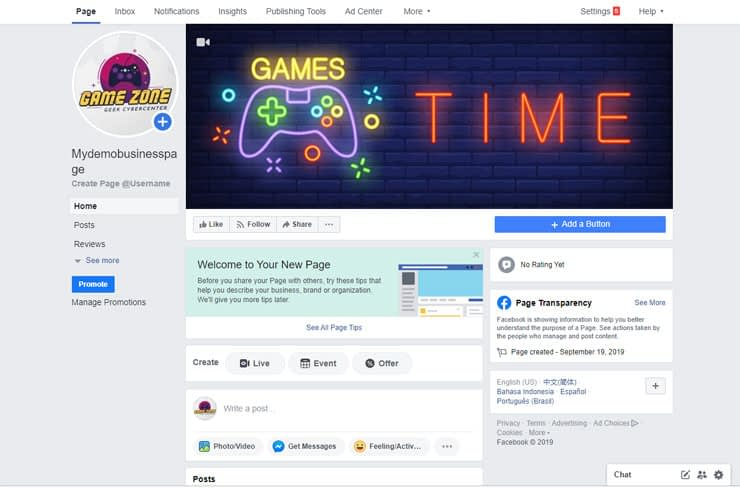 facebook add banner and logo