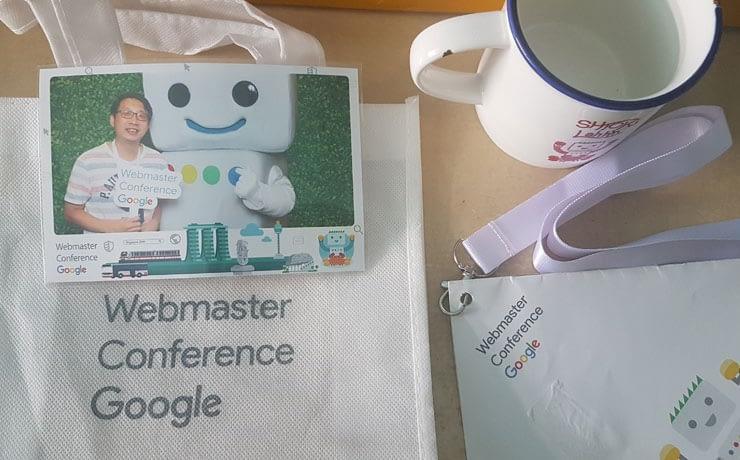 Webmaster Conference Singapore Goodies bag