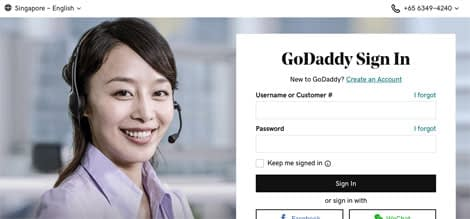 godaddy sign in