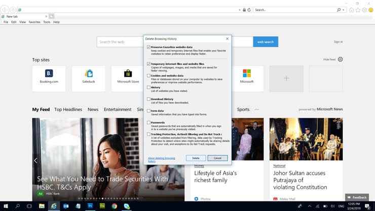 How to clear cache - Internet Explorer 2