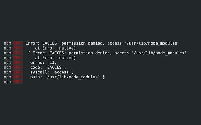 Error: EACCES: permission denied featured