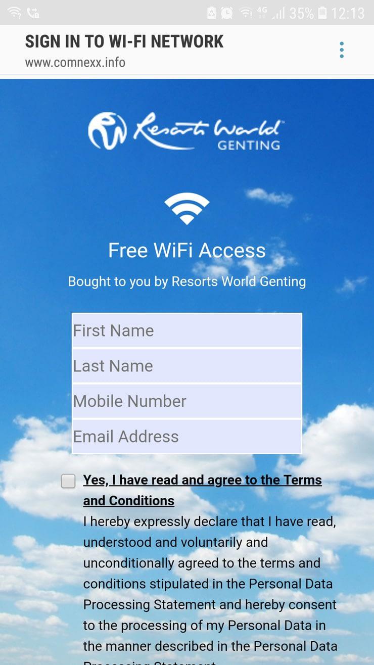 free wifi at bus terminal