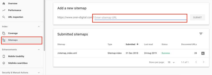 Google Search Console setting 1