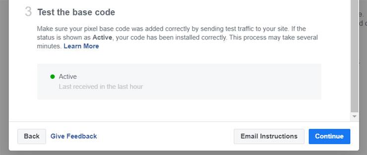 facebook test the base code