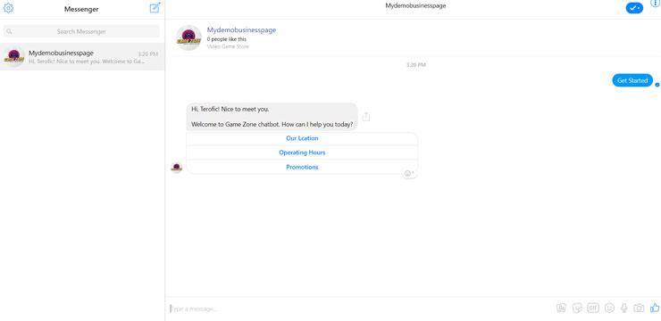 facebook message chatbot