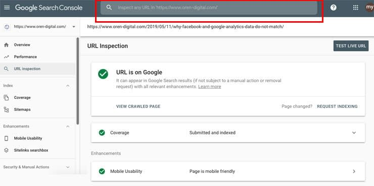 Google Search Console setting 10