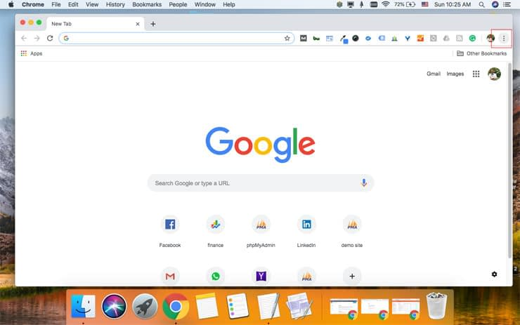 How to clear cache - Chrome 1