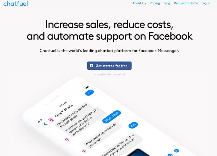 chatfuel-get-started-for-free